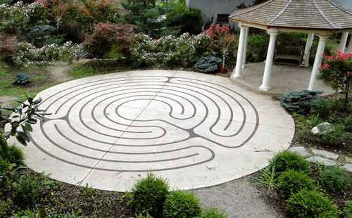Our Gazebo and Labyrinth